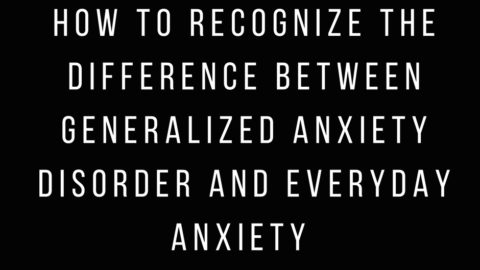 Cosmopolitan Column on Recognizing Generalized Anxiety Disorder